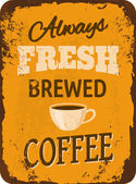 Vintage Coffee Tin Sign — Stock Vector