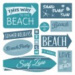 Beach Labels Collection — Stock Vector