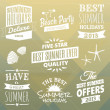Summer Design Elements Collection — Stock Vector