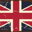 Vintage UK Flag — Stok Vektör