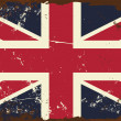 vintage uk flag — Stock Vector
