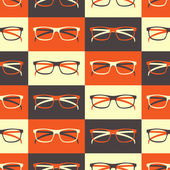 Glasses Seamless Pattern — Stock Vector