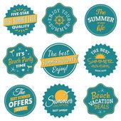 Colección de etiquetas de verano — Vector de stock