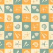 Summer Seamless Background — Imagen vectorial