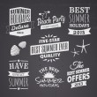 Summer Chalkboard Designs — Stock Vector