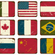 Vintage Metal Flags — Stockvectorbeeld