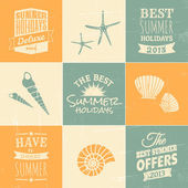 Summertime Design Collection — Stock Vector