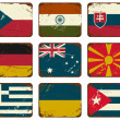 Vintage Metal Flags — Stock vektor