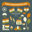 India Independence Day Collection — Vector de stock