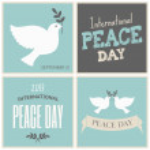 kolekcja kart dzień pokoju — Wektor stockowy