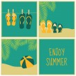 Stock Vector: Summertime Cards Collection