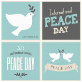 Peace Day Cards Collection — Stock Vector