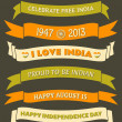 India Independence Day Banners — Imagen vectorial