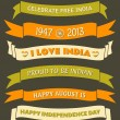 India Independence Day Banners — Stock vektor