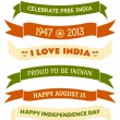 India Independence Day Banners — Stock Vector