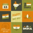 India Independence Day Collection — Stock Vector