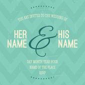шаблон приглашения свадьба — Cтоковый вектор