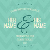 Wedding Invitation Template — Vecteur
