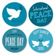 Peace Day Stickers Collection — Stock vektor