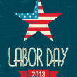 American Labor Day Poster — Stock Vector