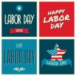 American Labor Day Collection — Stock Vector