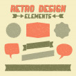 Retro Design Elements Collection — Stock Vector