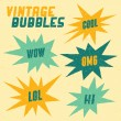 Stock Vector: Retro Bubbles Collection