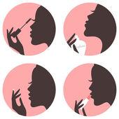 Conjunto de iconos de belleza — Vector de stock