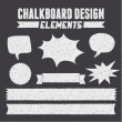 Chalkboard Design Elements Collection — Stock Vector
