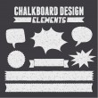 Chalkboard Design Elements Collection — Imagens vectoriais em stock