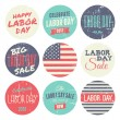 American Labor Day Sickers Collection — Stock Vector #29354911