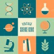 Vintage Science Icons Collection — Stock Vector