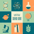 Vintage Science Icons Collection — Stock Vector #29356233