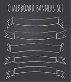 Chalkboard Banners Collection — Stock Vector