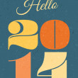 2014 New Year Card — Stock Vector