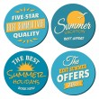 Summer Labels Collection — Stock Vector