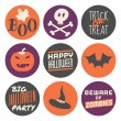 Stock Vector: Halloween Stickers Set