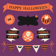 Halloween Design Elements Set — Stock Vector #29364481