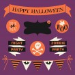Halloween Design Elements Set — Stock Vector