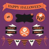 Halloween Design Elements Set — Stock Vector