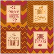 Stock Vector: Thanksgiving Cards Collection