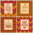 Thanksgiving Cards Collection — Vettoriale Stock #31239781