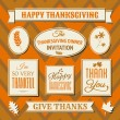 Stock Vector: Thanksgiving Labels Collection
