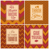 Thanksgiving Cards Collection — Wektor stockowy