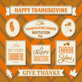 Thanksgiving Labels Collection — Stock Vector