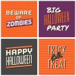 Halloween Cards Collection — Stock Vector