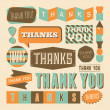 Thank You Design Elements — Stock Vector