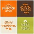 Stockvektor : Thanksgiving Cards Collection