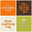 Thanksgiving Cards Collection — Stock Vector #31249673