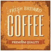 Coffee Metal Sign — Stock Vector